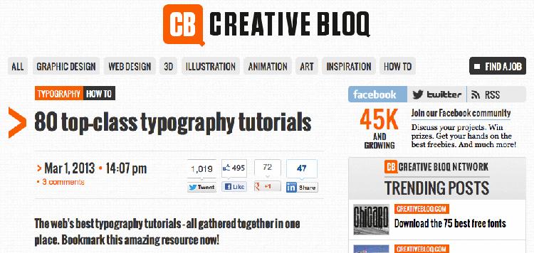 80 top class typography tutorials