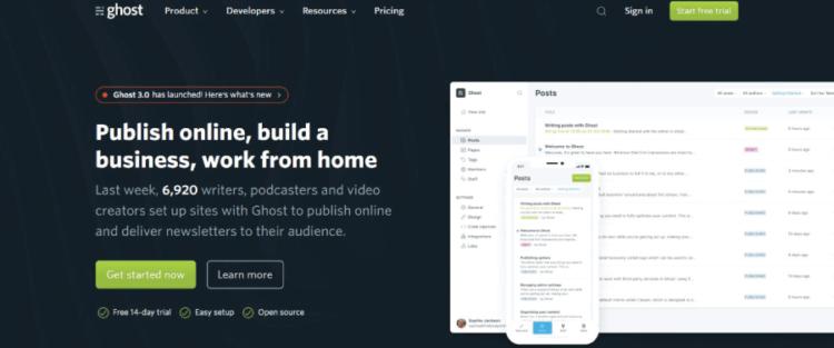 Best Free Blog Sites Ghost