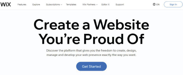 Best Free Blog Sites WIX