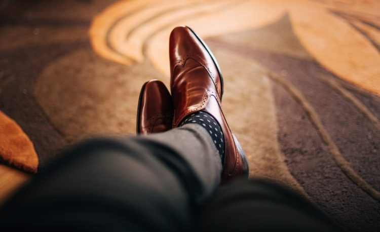 Business Casual Brown Leather Shoes