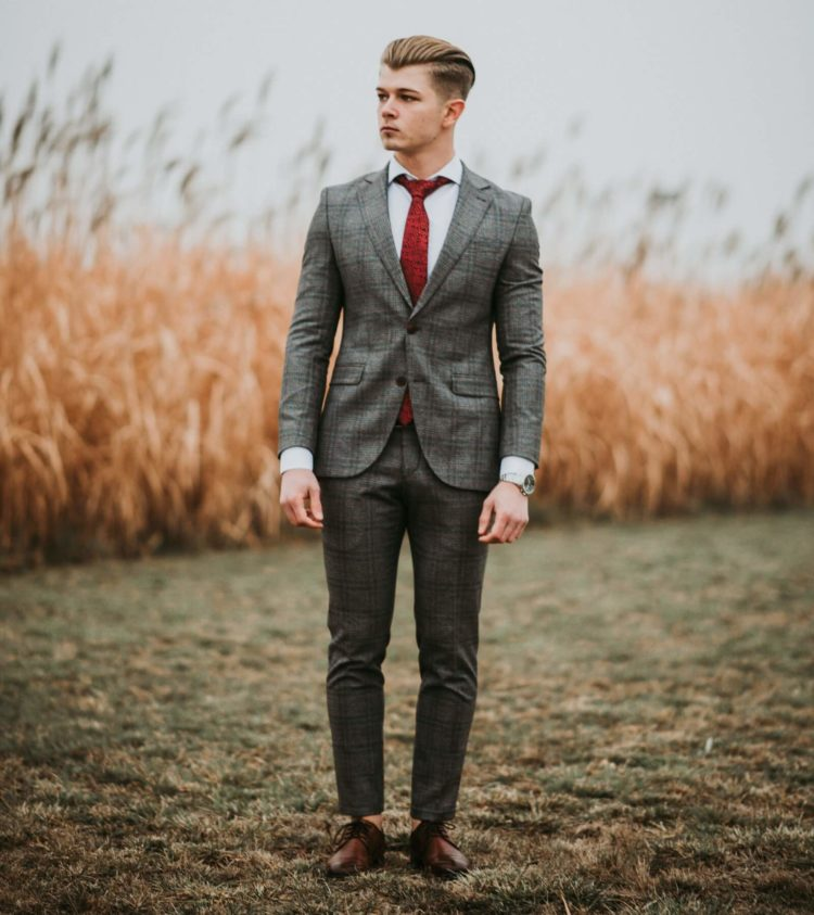 Cocktail Attire Men Red Tie