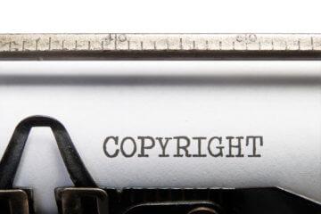 Copyright title typed on a vintage typewriter