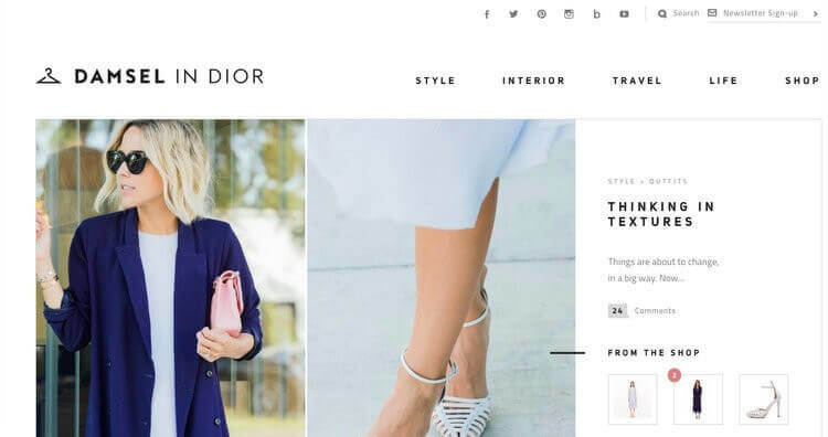 Damsel in Dior newsletter sign-up