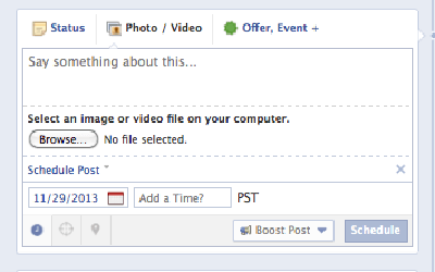 Facebook Page Scheduler screenshot