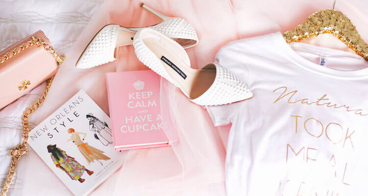 Flat Lay Fashion Blogger Pink Keep Calm