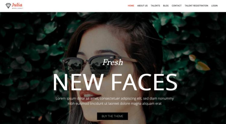 Julia WordPress Theme Preview