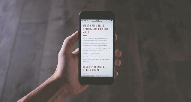 Mobile Friendly Blog Smartphone