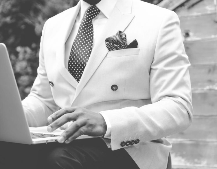 More Authentic in Your Fashion Blogging Black White Suit