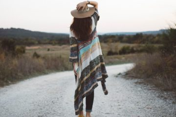 Sustainable Fashion Woman Poncho