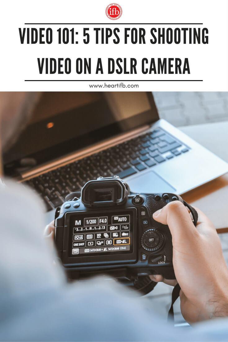 Tips Shoot Video DLSR Camera