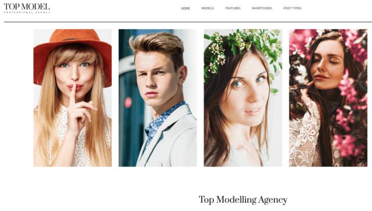 Top Model WordPress Theme Preview