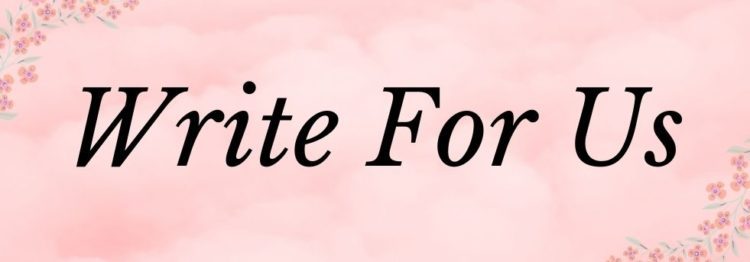 """header of the page """"write for us"""""""