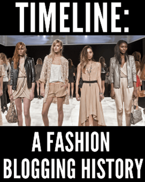 a fashion blogging history