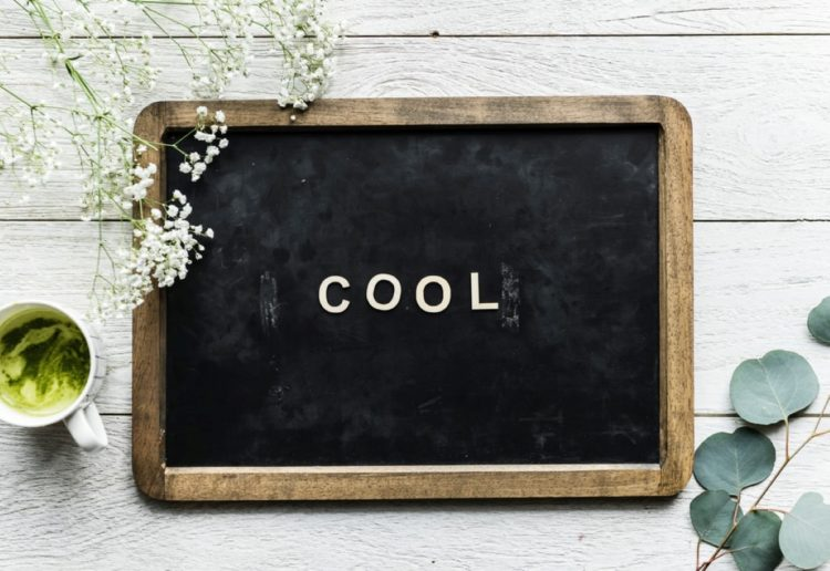 "Board for writing with a quote ""cool"""