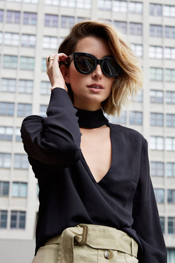 chronicles short hair cut celine sunglasses