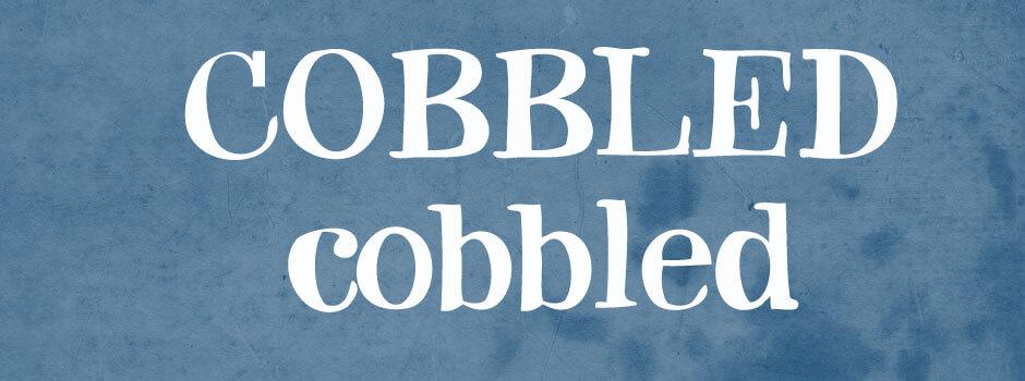cobbled font 1
