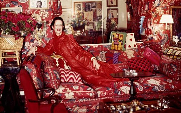 diana vreeland red sofa