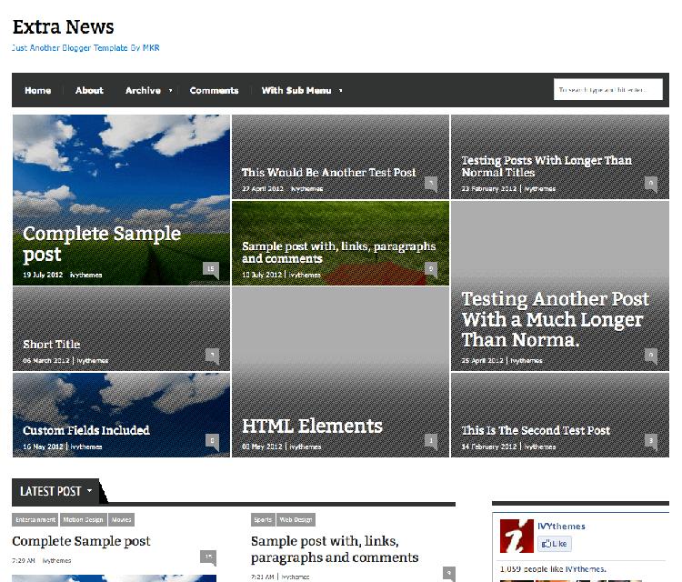 extra news responsive theme