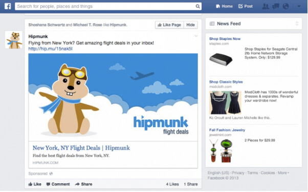 facebook ad example himmunk