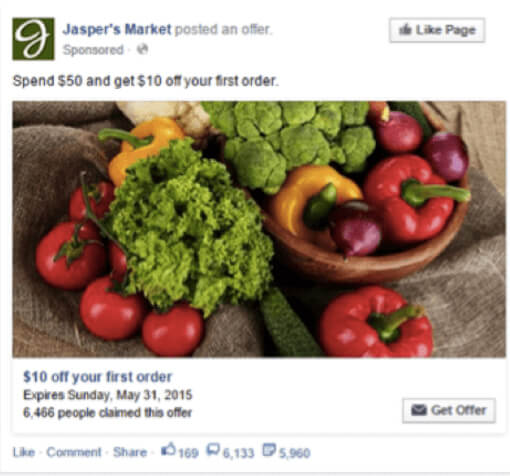 facebook ad example jasper market