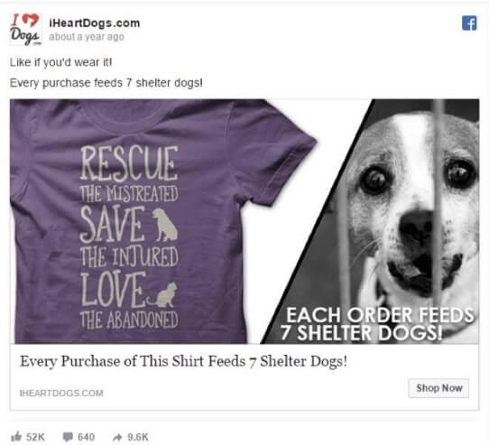 facebook ad example two