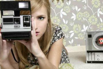 fashion blogger polaroid