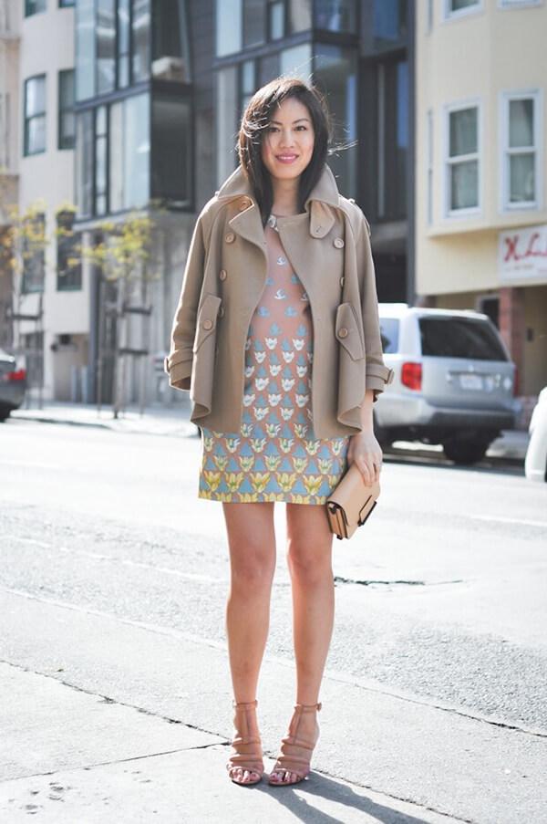 girl standing footpath