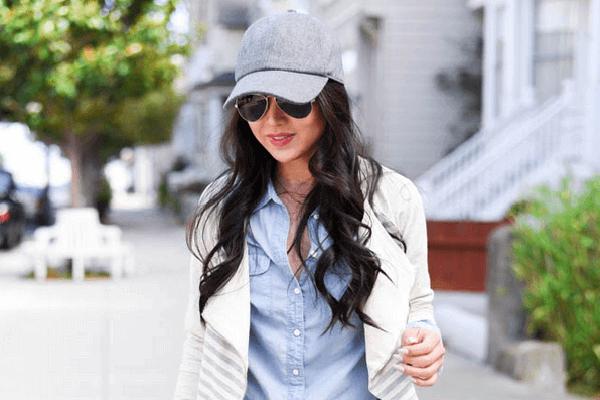 girl sunglasses cap