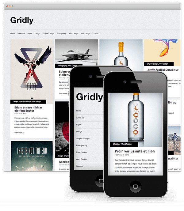 gridly responsive theme
