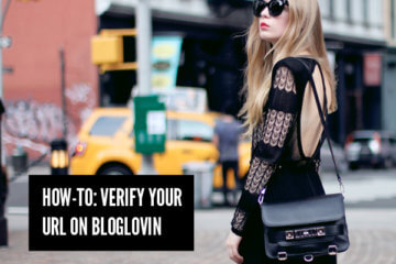 how to verify bloglovin url
