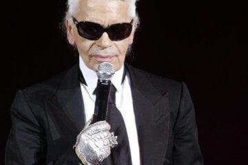karl lagerfeld wearing suit sunglasses