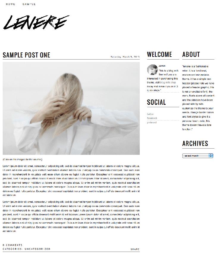 leneke blogger theme