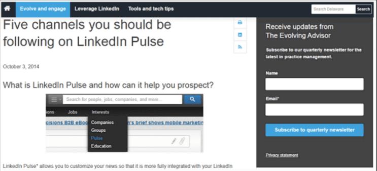 linkedin screenshot blog feed