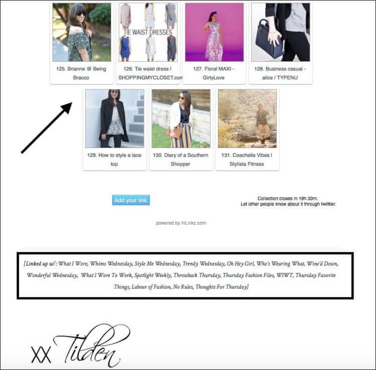 linkup weekly example