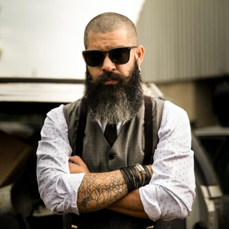 man with beard wearing sunglasses