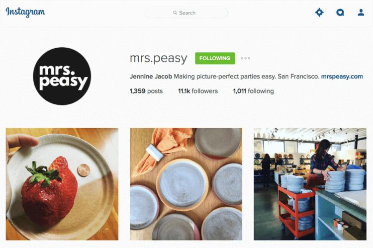 mrs peasy instagram