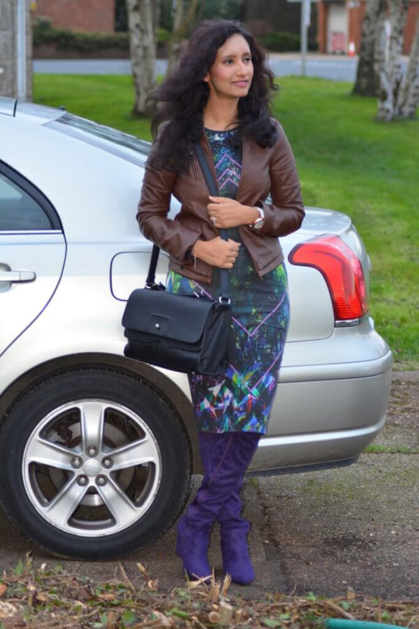 natasha kundi standing car bag