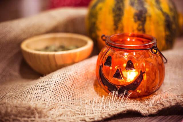 preparing for halloween pumpkin candle holder picjumbo