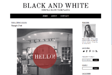 simple blog template