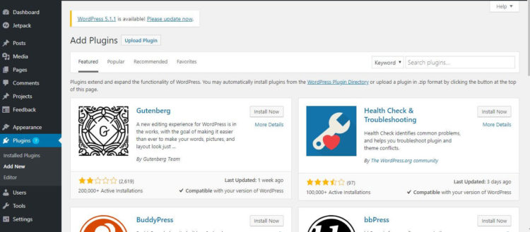 WordPress Settings - Select Theme