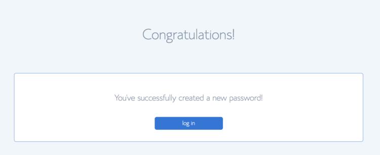 Password Created