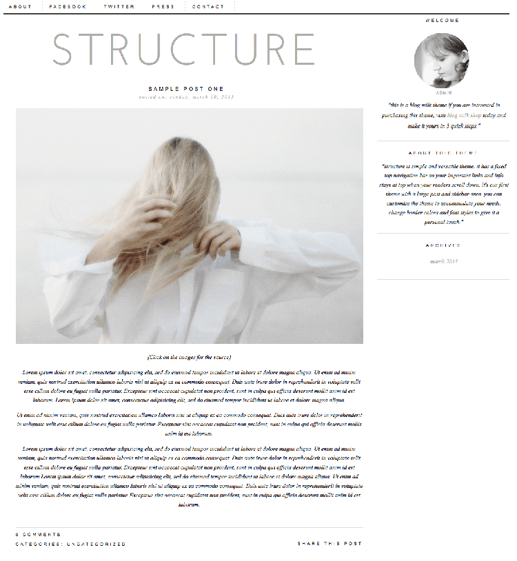 structure blogger theme