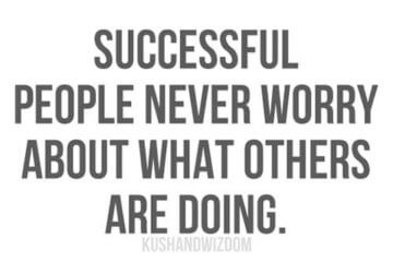 successful people never worry