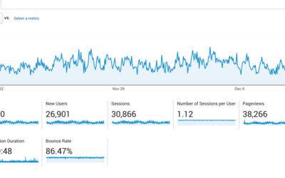 traffic google analytics screenshot