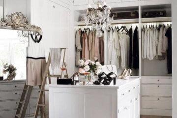 walk-in closet chandelier