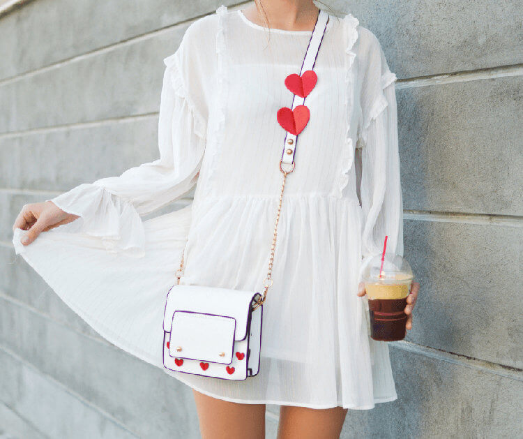 white dress red hearts